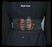 leather belt elastic  back view by Lagueuse