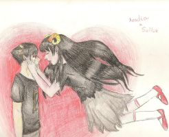 Aradia and Sollux by shadowxneji