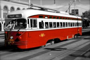 The F Line in red details by rafaelmcsilveira