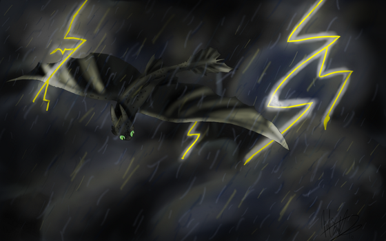 The Spawn of Lightning and Death Itself by BreezieM30w