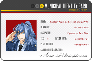 Aram ID Card - Pokegea by ikarus-exe