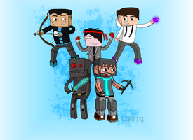Minecraft YouTubers -- Digital and Colored by Crystalstar1001