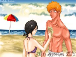 Ichiruki: sunburn by noodlemie