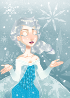 a gentle snow fall by candydoodlz