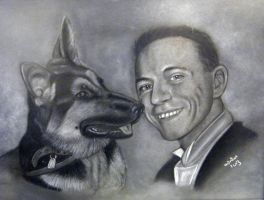 One Man And His Dog Commission by ADRIANSportraits