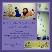 Daniel and Lions mural by TerrifyingLint