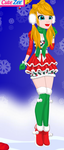 my new christmas outfit by Meloetta29