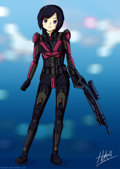 I'm Commander Shepard this is my fav picture on DA by hokushi