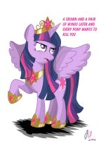 Annoyed Princess Twilight Sparkle by teammagix