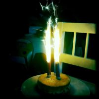 Cake and Sparks by elizabethunseelie