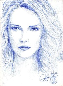 Charlize Theron miniSketch 02 by ethan-gmt