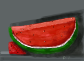 Untitled Drawing watermelon by PENNYPINCH