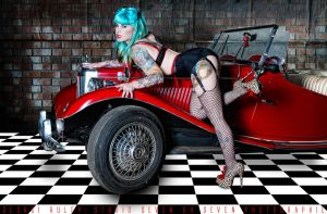 Fishnets and Fast Cars by Miss-MischiefX
