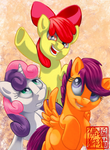 MLP - Cutie Mark Crusaders by Rattlesire