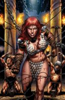 Red Sonja 73 cover color by wgpencil