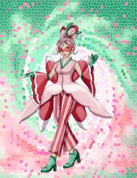 Peppermint the Lurantis by ZamDoodle