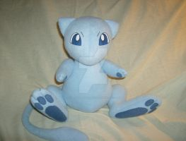 Shiny Mew Plush by xxtemporaryinsanity
