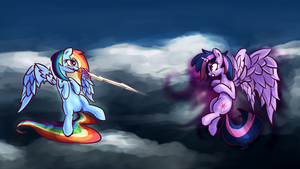 Rainbow Dash and Twilight Sparkle by Shovrike