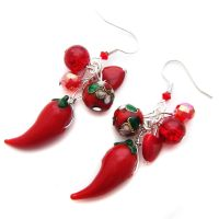 Red Chilli Pepper Earrings by fairy-cakes