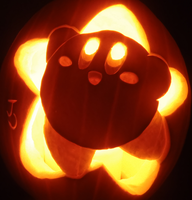 Pumpkin Star Kirby by johwee