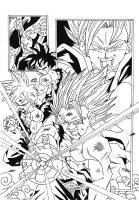 Dragonball Z - Saga de Cell B/W by TriiGuN