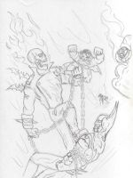 JLA vs. Ghost Rider by Youlo