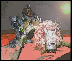 Chaos Drednaught on Necron by MushroomBrain