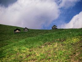 Three little houses by edelweiss26