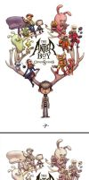 Antler Boy Cover Sketch to Final by JakeParker