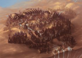 Desert City Concept by allisonchinart