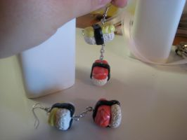 Sushi Set-Dangling Earrings by Hey-Jealousy