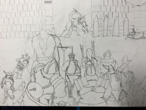 Dungeon crawl intro sketch + short story by Ihsan997