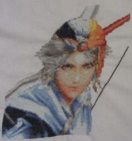 Firion (Final Fantasy II) - Cross Stitch by Melian-Vidumavi
