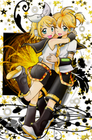 Rin and Len by chikorita85