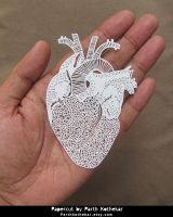 Intricate Papercut - Heart by ParthKothekar