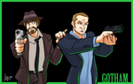 Jim Gordon and Harvey Bullock by Mordor-in-love
