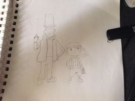 Professor Layton and Luke by RecklessWizard231
