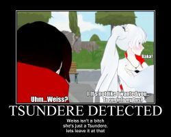 Tsundere Detected - Weiss Schnee [RWBY] by ElectrokineticArtest