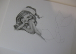 WIP Christmas Ariel Pencil on Paper by Cloudstrive