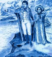 Barnabas and Josette Atop Widows Hill by ShadeOPale