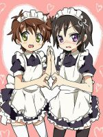 suzaku and lelouch in maids by Nagato-Yuki-chan