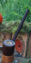 Bilbos Britches Pipe Highly Figured Myrtle 7 inche by FloggleWerks