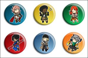 Final Fantasy XIII Buttons by Maxx-V