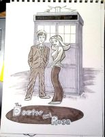 The Doctor and Rose by GeekyWhiteGuy