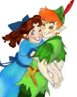 Peter Pan and Wendy by sparticus42