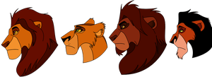 Lion King Face Comparison by Demi-Dee96