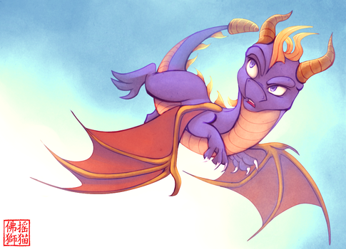 Spyro - Flight by Rattlesire