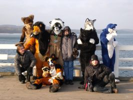 FursuitWalk in Sopot by Wilczyca-DarkWolf