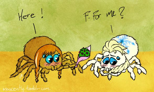 SPIDERS ARE CUTE by Wonie