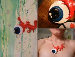 Loose Eye necklace by ZombieGurrl13